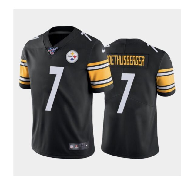 Nike Pittsburgh Steelers Ben Roethlisberger 100th Stitched Jersey Small