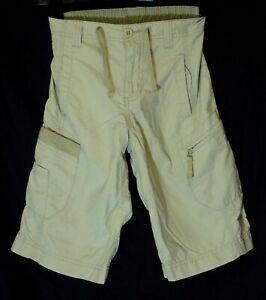 Ragazzi-Prossimo-Beige-Chiaro-Elastico-in-Vita-Lungo-Bordo-Cargo-Pantaloncini-Eta-8-anni