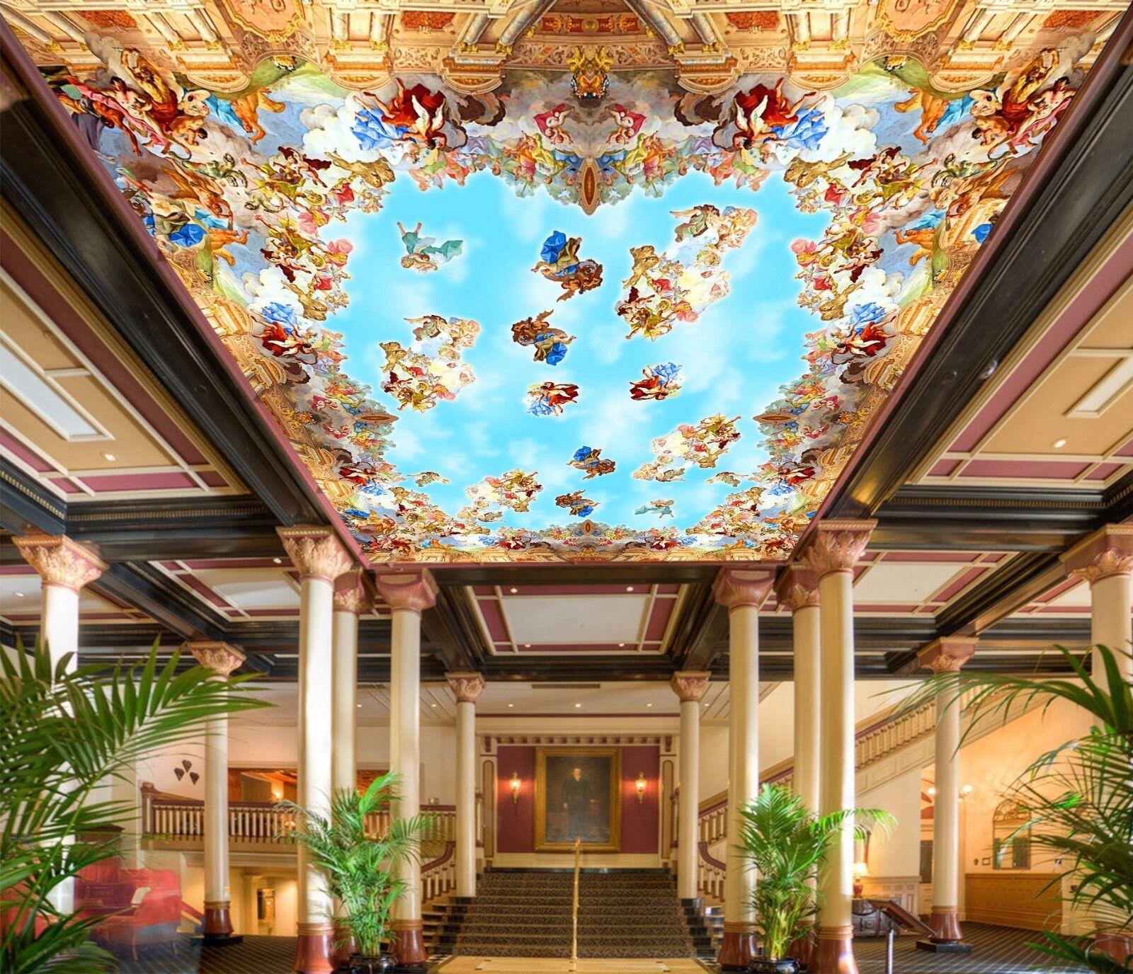 3D Angel Heaven 909  Ceiling WallPaper Murals Wall Print Decal Deco AJ WALLPAPER