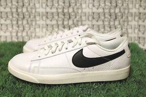 Details about Nike BLAZER LOW PREMIUM PRM Shoes 454471 004 Black White Leather Women's Size 9
