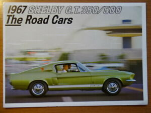 "SHELBY Cobra ""G.T. 350 / G.T. 500"" - 1967 - USA sales brochure, catalogue"