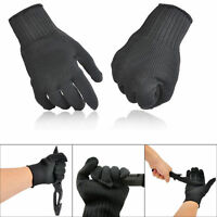 2x Stainless Steel Wire Safety Works Anti-Slash Cut Proof Stab Resistance Gloves