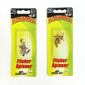 Flicker-Spoons-Hildebrandt-Trout-Fly-Spinner-Gold-amp-Silver-2-Pk-4Wt-Sizes