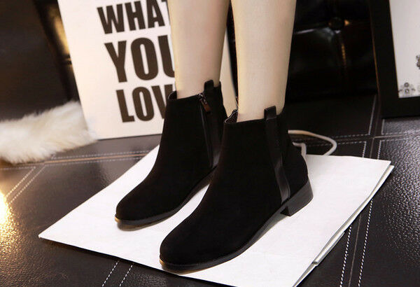 bottes stivaletti eleganti bassi comodi 3 cm noir anfibi pelle sintetica CW775