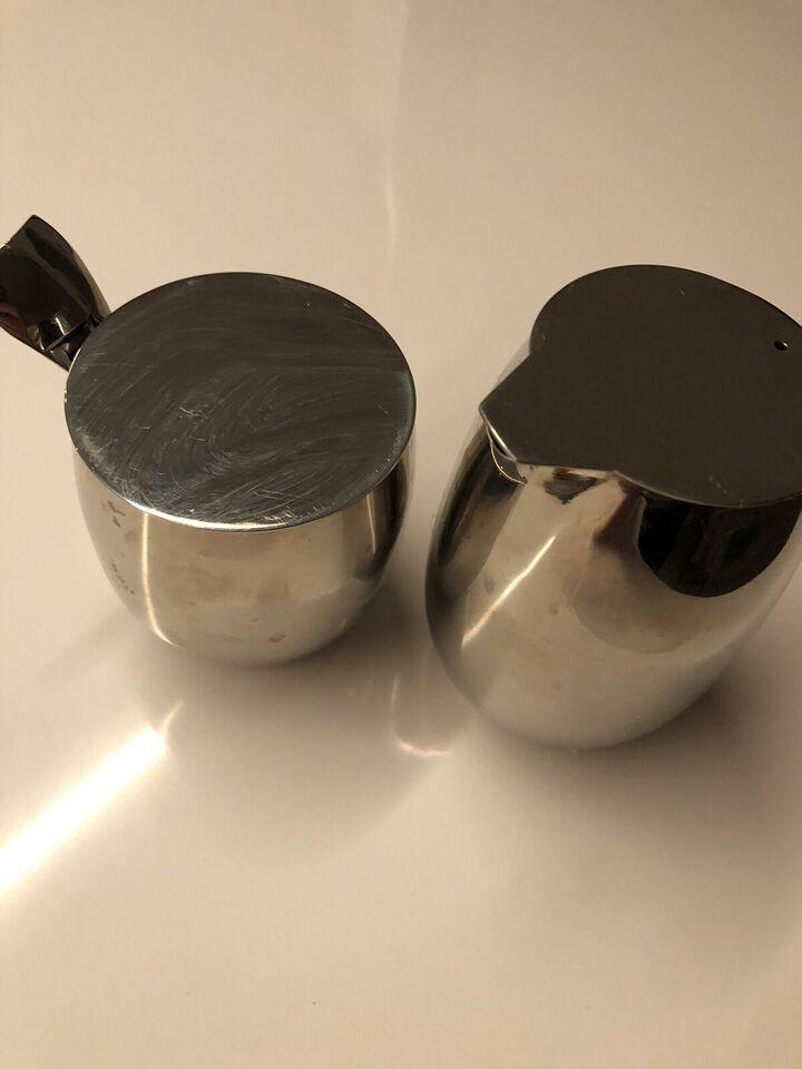 Rustfrit stål, Mælkekande og sukkerskål, Bodum