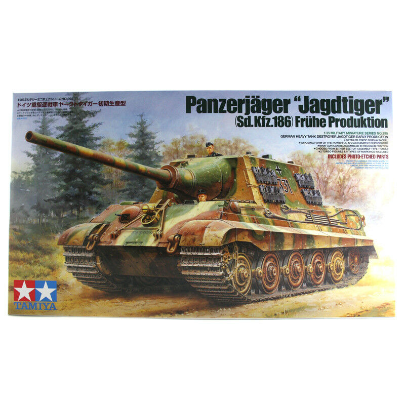 Tamiya German Heavy Tank Destroyer Panzerjager Jagdtiger Model Set (Scale 1 35)