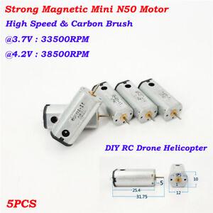 5PCS Micro 4*12mm Coreless HM Motor DC 3.7V 4.2V 64000RPM High Speed DIY RC Toy
