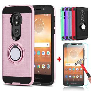 For Motorola Moto E5 Go Play Cruise Ring Stand Phone Case Glass Screen Protector Ebay