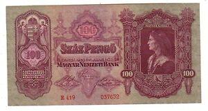Hungary-Ungheria-100-pengo-1930-qFDS-aUNC-pick-98-lotto-4007