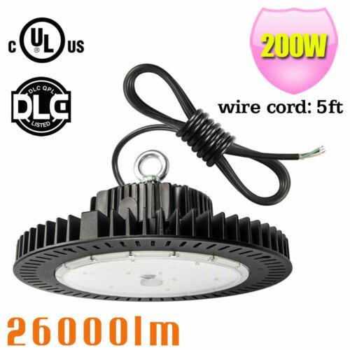 DLC 100W 150W 200W 240W LED Warehouse High Bay UFO Light GYM Airport Light 5000K