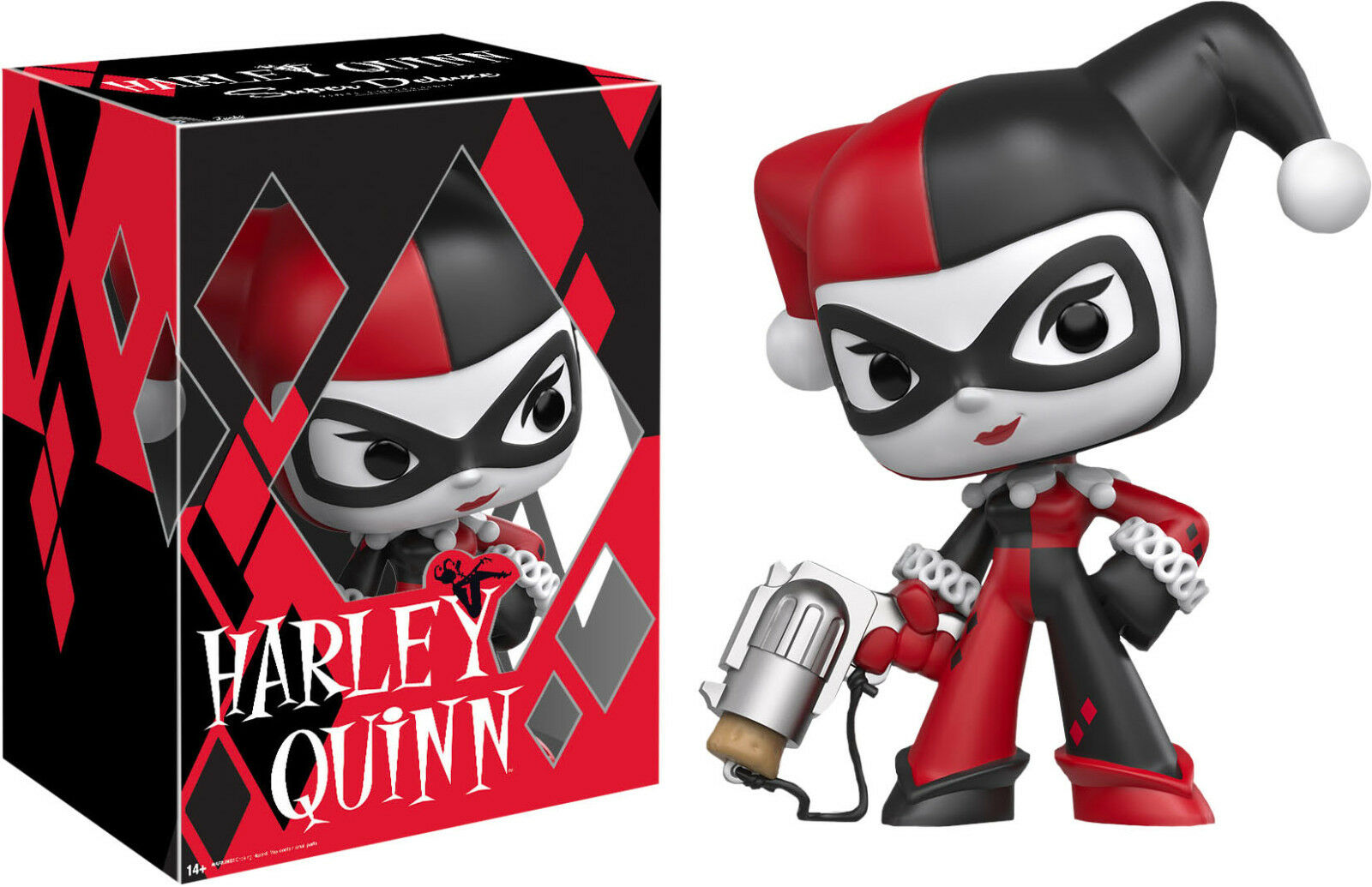BATMAN - Harley Quinn 10  Super Deluxe Vinyl Figure  Funko   NEW