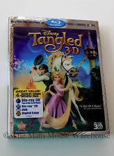 Disney Fairy Tale Rapunzul Tangled 3D Blu-ray DVD Digital Copy No Slipcover