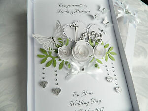 Details About Handmade Personalised Card Wedding Day Anniversary Engagement Gift Box 73