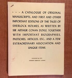 A-CATALOGUE-OF-ORIGINAL-MANUSCRIPTS-AND-FIRST-AND-OTHER-Vincent-Starrett
