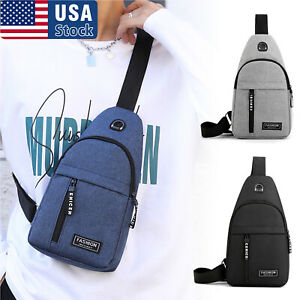 Mens Chest Pack Sling Bag Cross Body Handbag Shoulder Pack Sport Travel Backpack