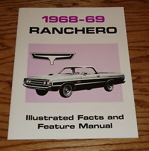 1968  68   FORD FAIRLANE FACTS /& FEATURE MANUAL
