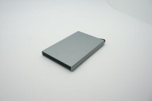 Slide Name Business Credit Card Holder aluminium Protector Wallet Slim Case Purs