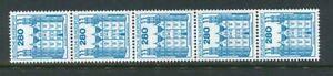 BRD-Mi-Nr-1142-Rollenmarke-mit-Zaehlnummer-5er-Streifen-Burgen-amp-Schloesser