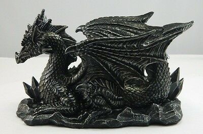 Winged Gothic Dragon Wine Bottle Holder and/or Decorative Sculpture NIB