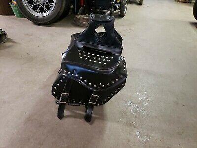 "15/"" W MOTORCYCLE WATERPROOF SLANTED STUDDED SADDLEBAGS FOR HONDA HSA22"