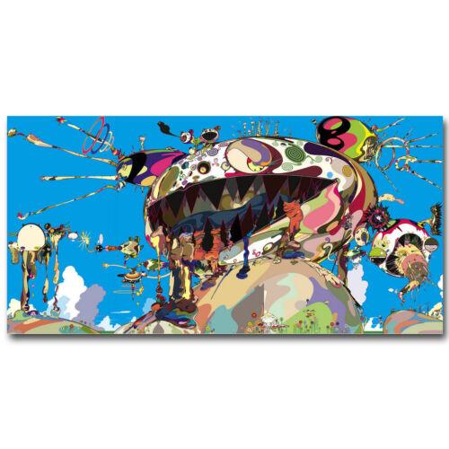 Art Takashi Murakami Japanese Print Trippy DOB Canvas Fabric Poster 1371