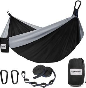 Camping Hammock Lightweight Portable Hammock With 2 Tree Straps Nylon NEW