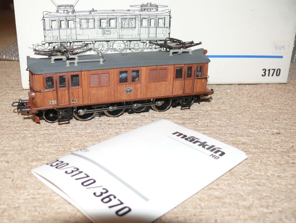 N2 Märklin 3170 e Lok tipo 109 holzlok SJ