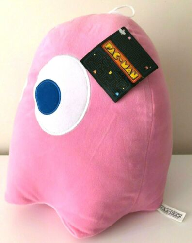 """Jumbo Large Giant Pink Ghost Pac-Man 12/"""" Plush Licensed Toy Soft tag New w"""