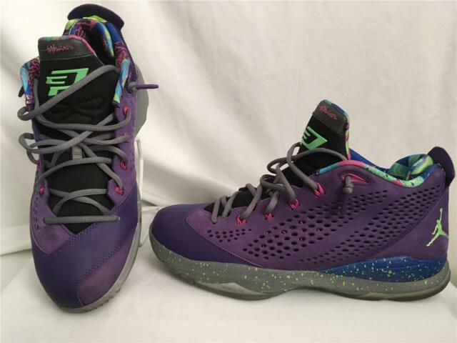 official photos 65c5e 16674 NIKE AIR JORDAN CP3.VII BEL AIR CHRIS PAUL PURPLE LIME GREEN 616805- 506