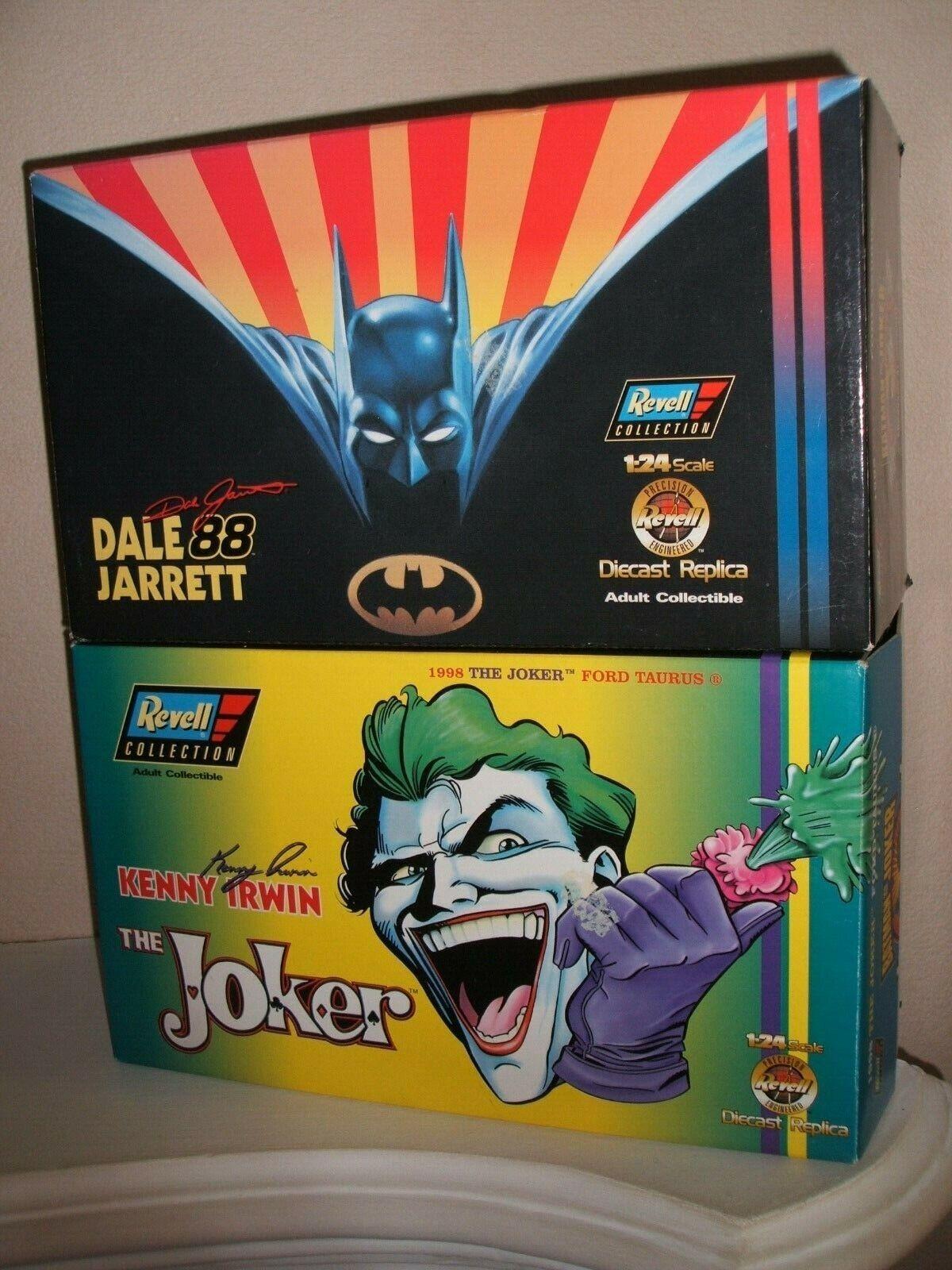 REVELL BATMAN & JOKER FORD TAURUS CARS NEW IN HIGH GRADE BOXES + COA