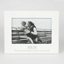 White Mum Forever My Friend Photo Frame 6x4 Shabby Chic Picture Gift Home