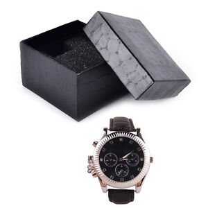Black-PU-Noble-Durable-Present-Gift-Box-Case-For-Bracelet-Jewelry-Watch-SR