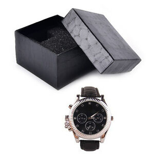Black-PU-Noble-Durable-Present-Gift-Box-Case-For-Bracelet-Jewelry-Watch-3C