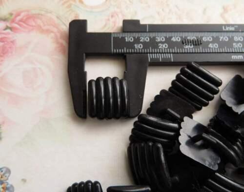 30 x square black plastic shank buttons look like cufflinks 15mm 24Ligne