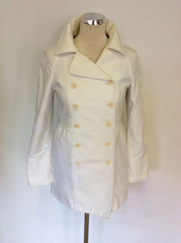 Coat 36 Cotton 8 Breasted amp; Joe Double White Size Paul Uk xq6wZgYx