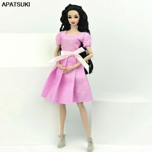 Pink-Polka-Dress-for-Barbie-Doll-Outfit-Princess-Party-Gown-Clothes-1-6-Doll-Kid