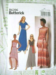 6-8-10-12-14 NEW BUTTERICK SEWING PATTERN B6206 MISS OR MISS PETITE DRESS Sz