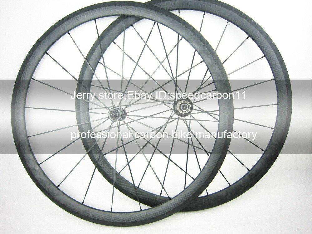 18inch carbon fiber road racing wheel 40mm deep,355 rim,25mm width MINI VELO