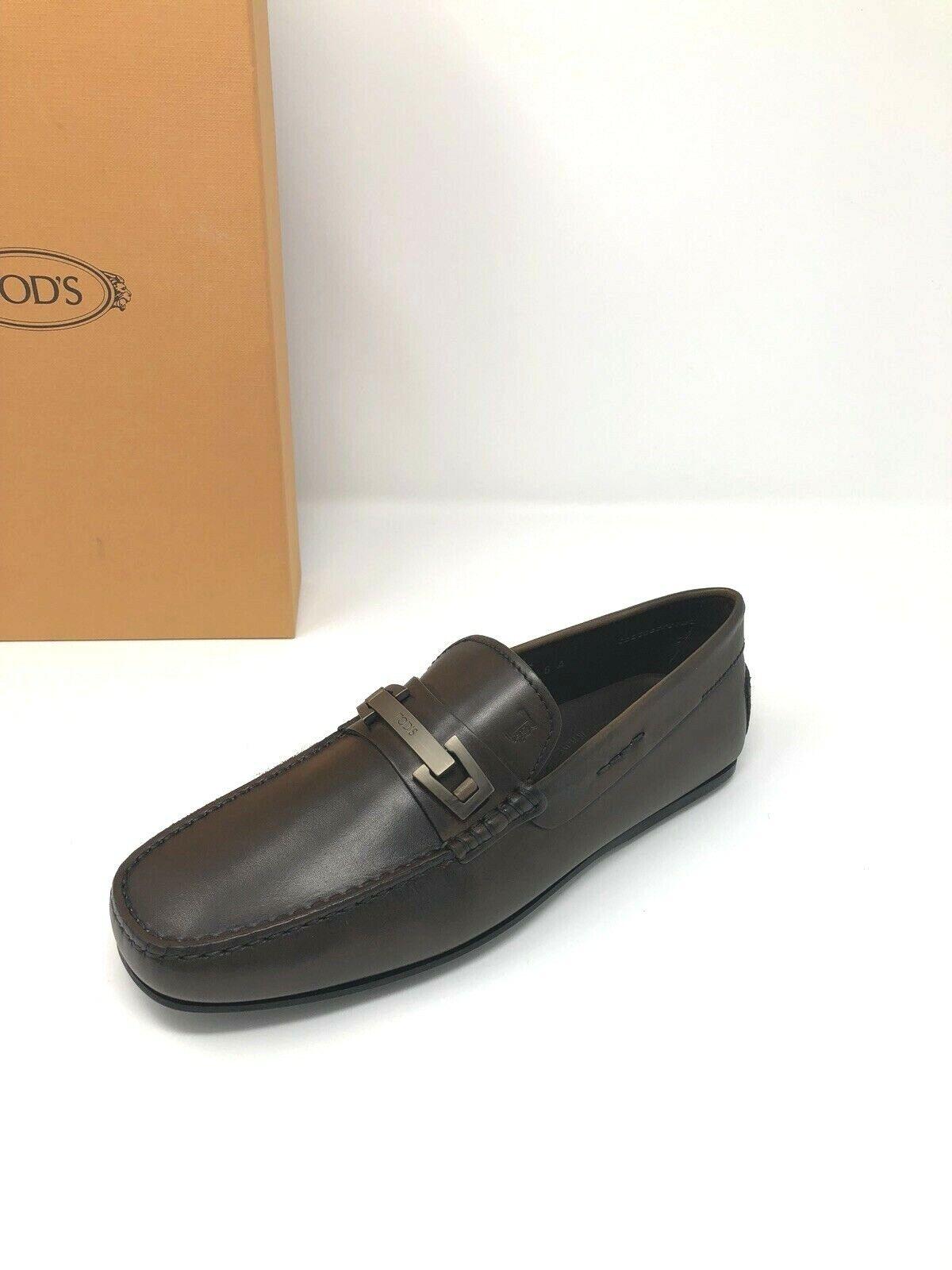 595 New Tods Mens Marroneee scarpe Gommino Loafers 6.5 US 5.5 EU