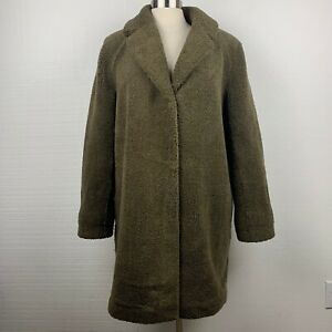 Velvet-By-Graham-amp-Spencer-Trichelle-Sherpa-Coat-L-Womens-Olive-Green-Oversized