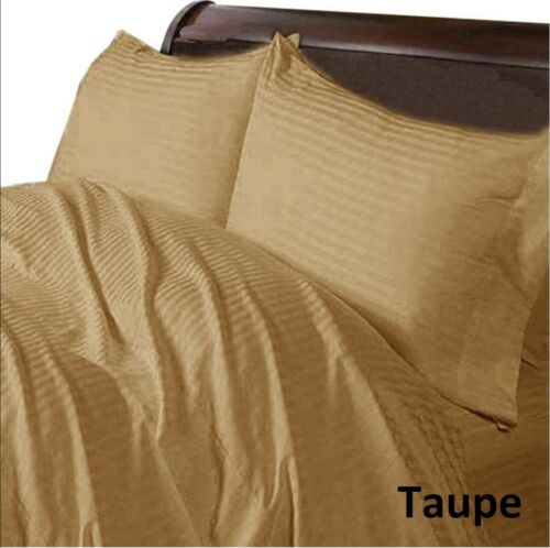 Cal King Size 4 PCs Sheet Set 1000 Thread Count Egyptian Cotton Striped Colors
