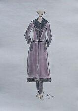 ORIGINAL MODEZEICHNUNG Modeskizze Damen fashion sketches 10-391