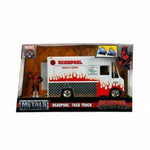 Jada Toys 1:24 Deadpool Taco Truck & Figure Diecast Nouveau