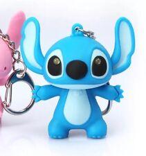 Lilo & Stitch Stitch Keychain Blue LED Light Up With Sound 5cm US Seller