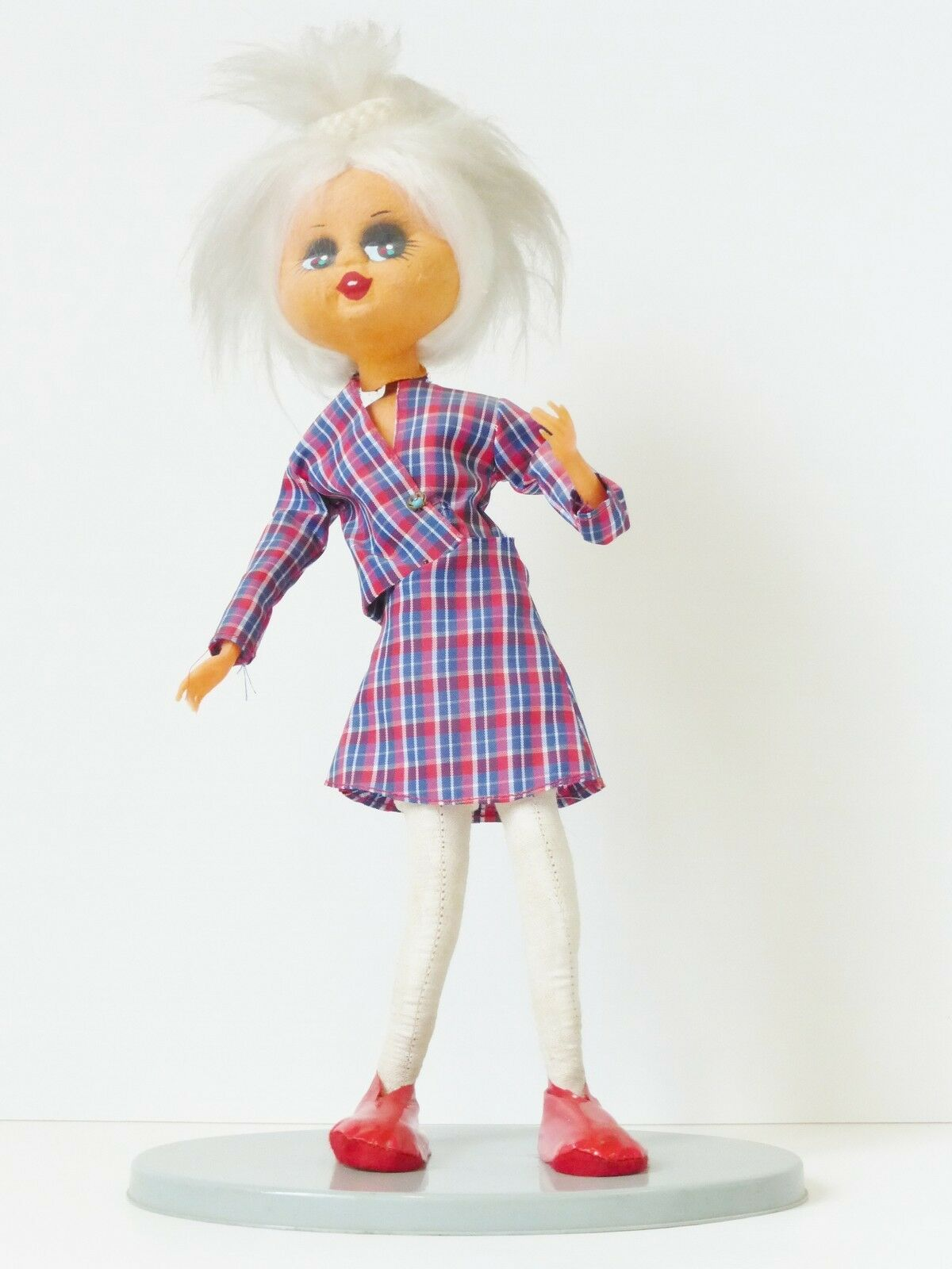 DOLL PUNK INDEPENDEN ON BASE 37 cm YEARS 60  70 VINTAGE 60's 70's punk DOLL