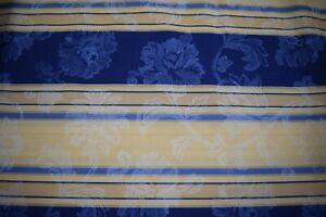 Dettagli Su Stoffa Tessuto Copri Divano Lenzuolo Fantasia Fiore Blu Misure 1 X 2 90 H