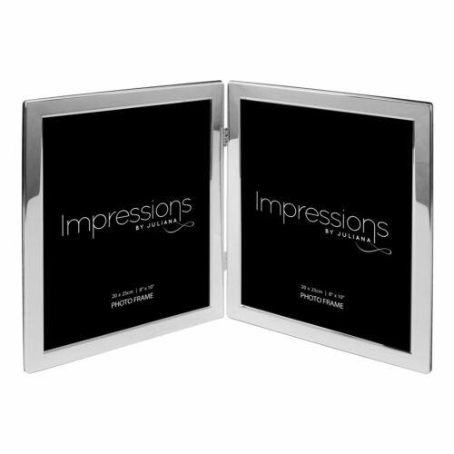 FS19780 8/' X 10/' Impressions argentés flat edge Double Cadre