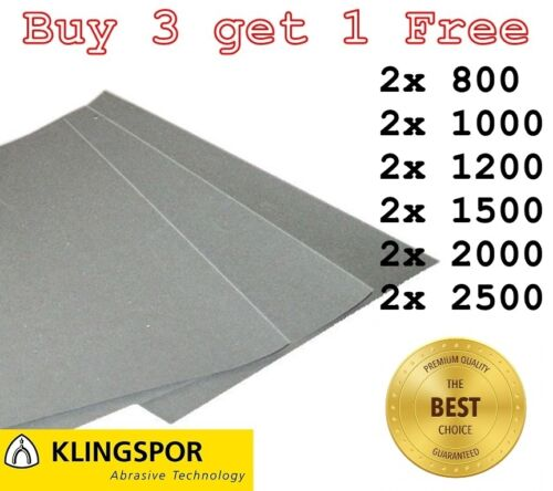 1500 1200 2500 GRIT 2 OF EACH SANDPAPER 2000 1000 WET AND DRY PAPER 800