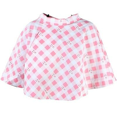 $68 Lazy Oaf Women Bunny Gingham Skirt pink