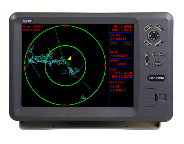 Onwa KP1299A GPS Chart Plotter With Integral Ais Transponder & UK K-chart
